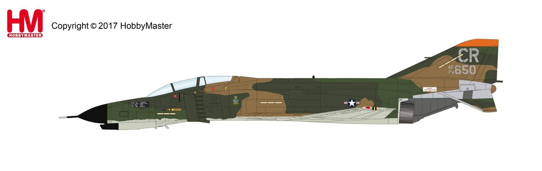 HOBBYMASTER HA1979 72ND USAF MCDONNELL-DOUGLAS F-4E PHANTOM II 74-650 CR